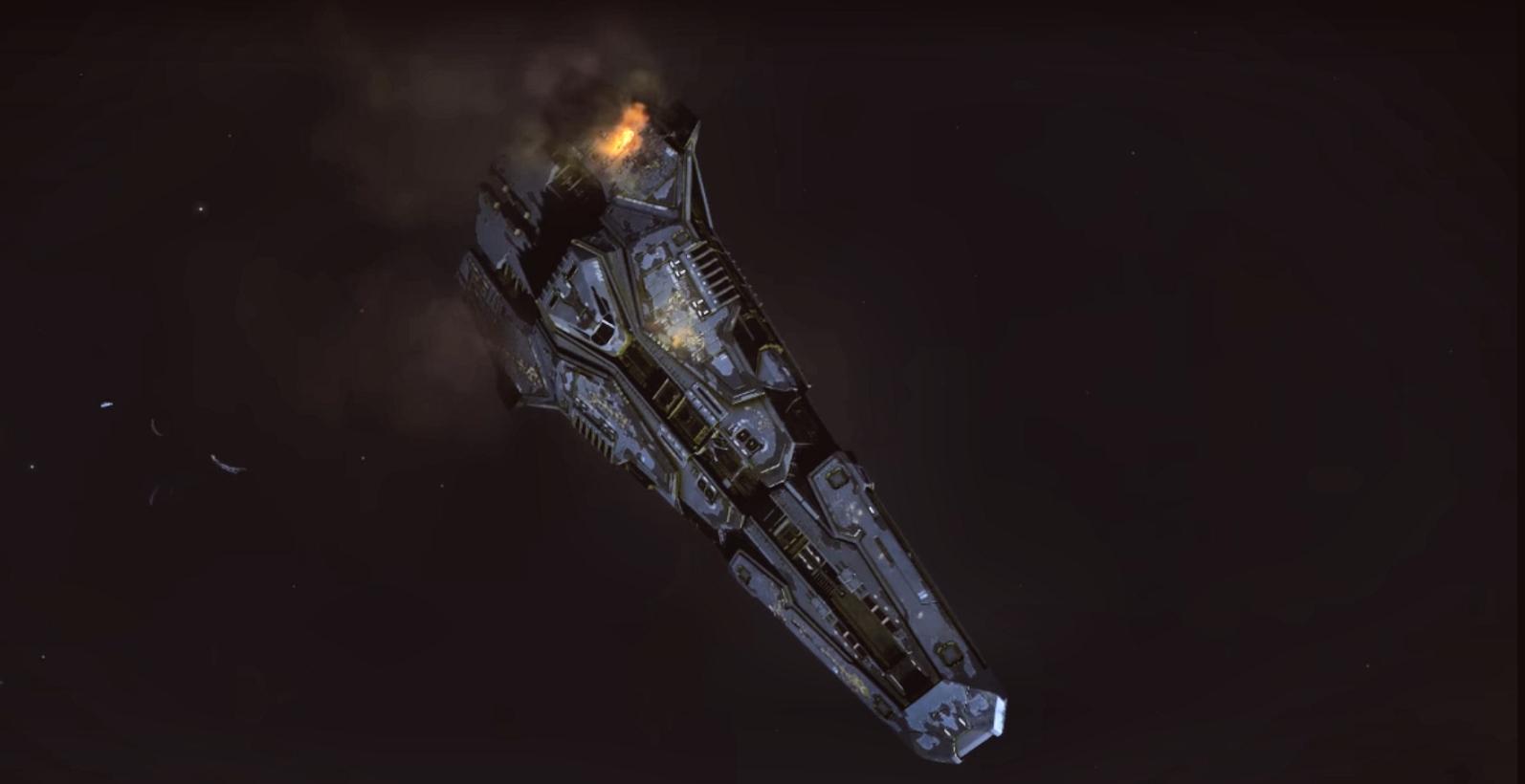 Corvette fédérale en perdition dans le système Maia