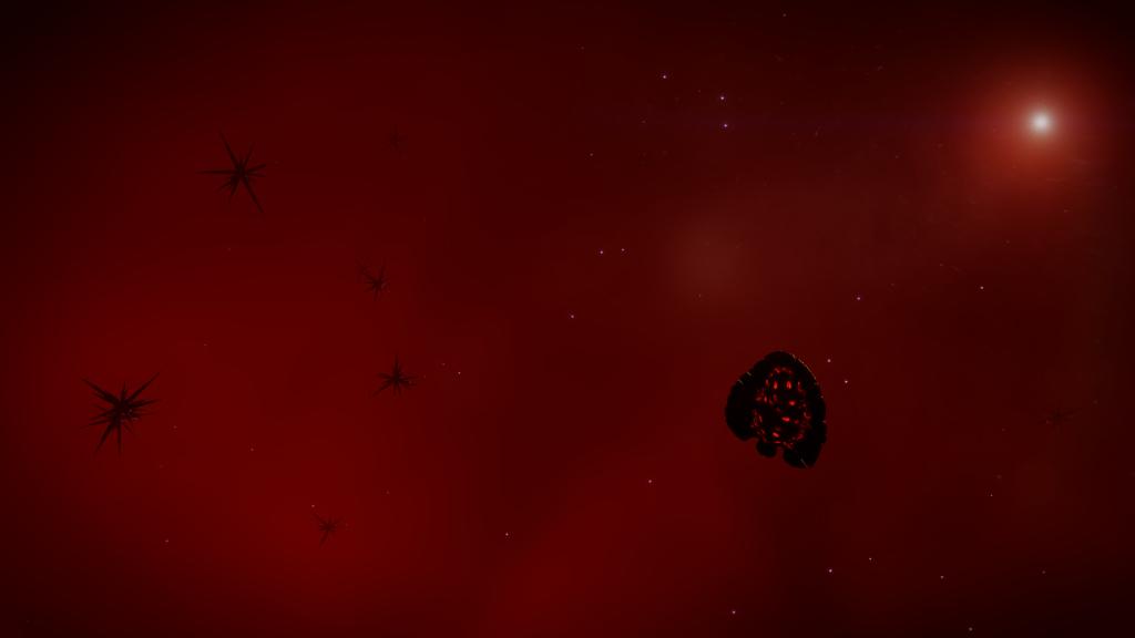 Trifid Sector HR-W d1-256 - des formes de vie similaire dans un nuage de gaz/particules rouges, cette fois !
