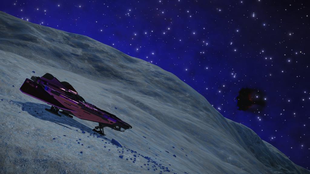 Vue sur la  nébuleuse proche, depuis la surface d'une des planètes du système Clooku EW-Y c3-197, où la quatrième étape se trouve.