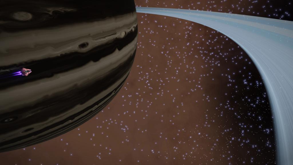 Une superbe géante gazeuse avec de superbes anneaux